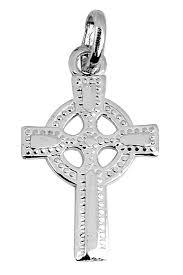 irish cross pendant necklace in