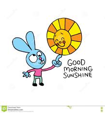 Dzień dobry słoneczko ilustracja wektor. Ilustracja złożonej z ...