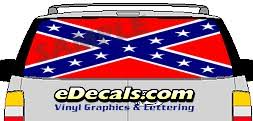 Clr144 Rebel Confederate Flag Vision Rear Window Mural Decal Edecals Com