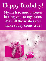 happy birthday wishes for sister new