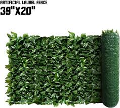 Amazon Com Tang By Sunshades Depot Laurel Leaf 39 X 20 Inch Artificial Faux Customize Size Artificial Laurel Fence Privacy Fence Screen Leaf Vine Decoration Panel With Mesh Back Garden Outdoor