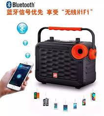 TẶNG 2 MIC KHÔNG DÂY ] Loa karaoke mini di động JBZ 0607, loa bluetooth mini  xách tay công suất lớn hát karaoke âm thanh cực hay +Kèm 2 micro lọc