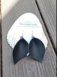 leather leaf earrings joanna gaines