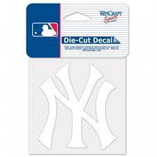 New York Yankees Ny Alternate Logo 4x4 White Die Cut Decal At Sticker Shoppe