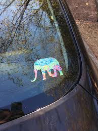 Lilly Pulitzer Inspired Elephant Decal Yeti Cooler Decal Laptop Deca Slrustic