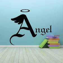 Angel With Halo Text Decal