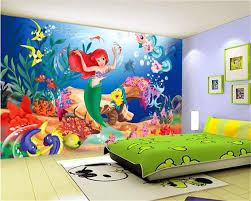 Custom Size 3d Mural Kids Room Wallpaper Mermaid Princess Fairy Tale World 3d Picture Backdrop 3d Wall Mural Wallpaper Sticker 3d Wall Murals Wallpaper Mural Wallpaper3d Room Wallpaper Aliexpress