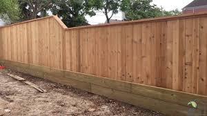 Cedar Wood Fence Install Youtube