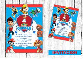 Invitacion Paw Patrol Patrulla Canina En 2020 Invitaciones De