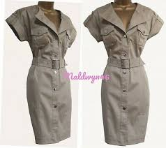 belted safari military shirt style