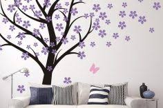 Black Tree Wall Stickers Large Decal And White Family Design Vinyl Palm Pine Cat Vamosrayos