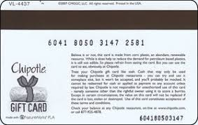 gift card chipotle mexican grill