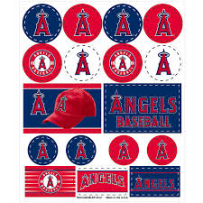 Los Angeles Angels Stickers 1 Sheet Party City