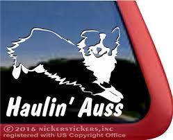 Haulin Auss Australian Shepherd Dog Stickers Decals Nickerstickers