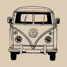 Vw Camper Van Bus Vinyl Wall Art Sticker Transfer Home Decor Decal Ve021 Vw Art Vw Bus Vw Campervan