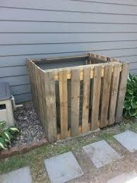 Pallet Board Air Conditioner Fence Air Conditioner Hide Diy Outdoor Outdoor Decor
