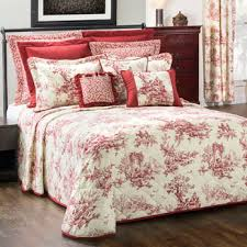 red bouvier toile comforter sets and