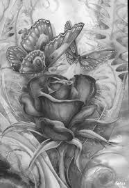 Rose Butterfly Coloring Pages Colouring Adult Detailed Advanced