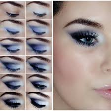 homeing makeup tutorial for blue