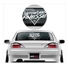 Saitoworks Thrash Triangle Xl 55cm Rear Window Decal Jdm Sticker Drift Euro Ebay