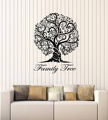 Vinyl Wall Decal Family Tree Floral Nature Art Living Room Stickers Mu Wallstickers4you