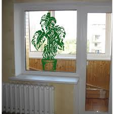 Shop Landscape Flower A Plant Tree Window Wall Art Sticker Decal Green Overstock 11857437