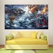 Dota 2 Epic Battle Block Giant Wall Art Poster