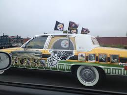The Best Car Ever Super Pittsburgh Steeler Fan Caught On Camera