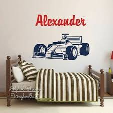 Personalized Name Wall Decal Boys Bedroom Removable F1 Home Decor Wall Sticker Ebay