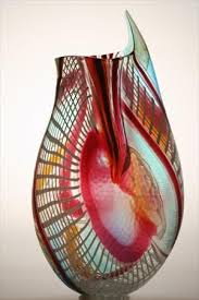 murano glass vase by afro celotto
