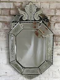 antique vintage french venetian mirror