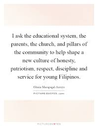 i ask the educational system the parents the church and