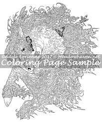 Een Meadowhaven Fantasie Kleurplaten Pagina Download Etsy