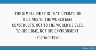 the simple point is that literature belongs to the world man