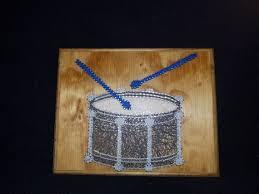 Snare Drum String Art Wall Decor Etsy
