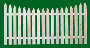 Eastern White Cedar Fence Spaced Picket Wood Fencing