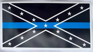 Thin Blue Line Rebel Flag Bumper Sticker Dl Grandeurs Confederate Rebel Goods
