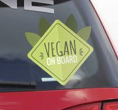 Vegan On Board Car Sticker Tenstickers