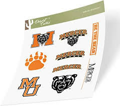 Amazon Com Mercer University Bears Ncaa Sticker Vinyl Decal Laptop Water Bottle Car Scrapbook Type 2 Sheet Arts Crafts Sewing