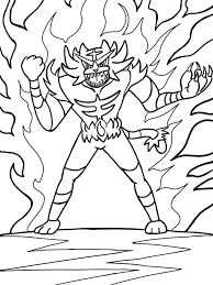 Pokemon Sun And Moon Coloring Pages Incineroar