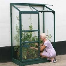 Vitavia Ida Green Frame Lean-To Greenhouses - Toughened Glass ...