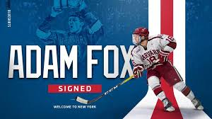 Rangers Agree To Terms With Defenseman Adam Fox