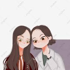 أخت صديقات صداقة صداقة لطيف يوانان فتاة Png وملف Psd للتحميل مجانا