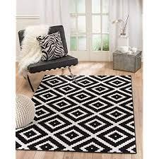 black and white geometric rug com