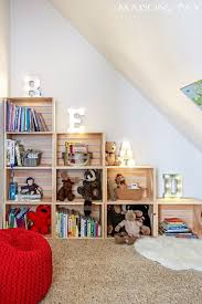 Apple Crate Box Crate Stackable Book Case Wall Unit Ladder Books Read Kids Design Boy Room Toy Rooms Room Organization