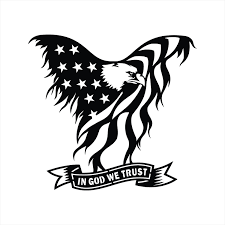 Patriotic American Flag Eagle In God We Trust Decal Sticker Etsy