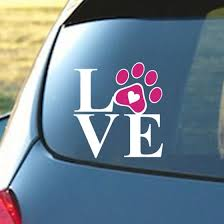 Shop Tailored Heart With Dog Paw Puppy Love Decal Window Sticker For Cars Walls Online From Best Other Exterior Car Accessories On Jd Com Global Site Joybuy Com