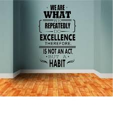 We Are What We Repeatedly Do Office Decal Office Wall Decal Etsy