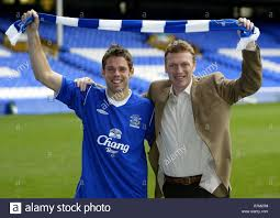 James Beattie joins Everton FC - Goodison Park Stock Photo - Alamy