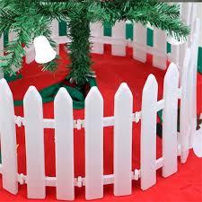 30pcs White Christmas Tree Fences Christmas Xmas Tree Plastic Picket Fence Miniature Home Garden Xmas Tree Ornament Wedding Party Decoration Walmart Com Walmart Com